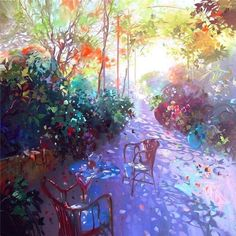 Laurent Parcelier is a creative French artist who was born on November in Chamalieres. He studied from 1978 to 1980 in the App. Impressionist Paintings, Watercolor Paintings, Watercolors, Post Impressionism, French Artists, Figure Painting, Contemporary Artists, Lovers Art, Art History