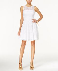 Thalia Sodi Lace Fit & Flare Dress, Only at Macy's - Dresses - Women - Macy's