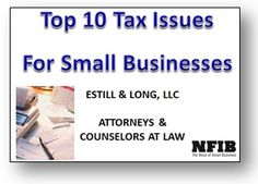 Top 10 Tax Issues for Small Business - On Demand Webinar