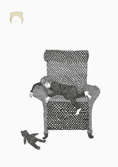 """Illustration von Nina Egli mit dem Titel """"Träumerin""""; eine schöne Dekoration für Dein Zuhause // affordable art for your home: illustration """"The Dreamer"""" made by Jakob&Tatze via DaWanda.com"""