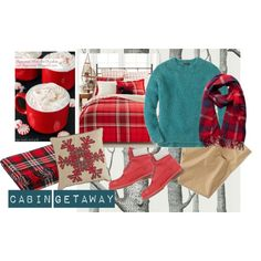 60 Second Style: Cabin Getaway by simple-wardrobe on Polyvore featuring J.Crew, Timberland, Pieces, American Eagle Outfitters, Martha Stewart, Pier 1 Imports, Pendleton and Cabingetaway