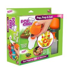 Pop Chef 10 Piece Kit Push Pop And Eat Pop Out Treats In Seconds Make Mouth Watering Masterpiecesshapes In Seconds Healthy Snacks Cake D