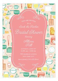 Kitchen Bridal Shower Invitation | Polka Dot Design