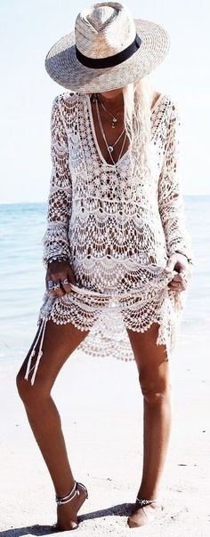 #summer #popular #outfitideas Crochet Beach Cover Up