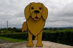 Goldern Retriever Planter. Dogs. Garden Ornaments. Garden Decorations. Handmade. Animal Lover. Christmas. on Etsy, $47.40