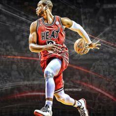 Miami Heat's Dwyane Wade- My favorite player! Miami Heat Basketball, Pro Basketball, Basketball Players, Basketball Jones, Soccer, Miami Heat Dwyane Wade, Heat Fan, American Athletes, Shooting Guard