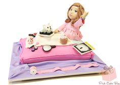 Rena's Sleepover Themed Birthday Cake by Pink Cake Box in Denville, NJ.