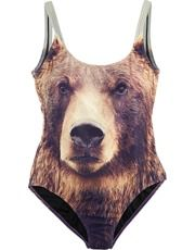 Grizzly bear swimsuit.
