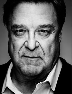 Love the lighting and contrast here. Super close to the face. John Goodman by Nigel Parry