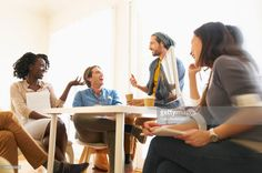 Stock Photo : People laughing in meeting at office