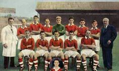 Charlton Ath team group in 1955-56.