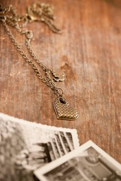 Heart & little bird pendant