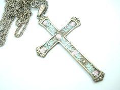 Vintage Christian Cross Necklace