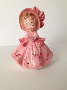 Josef Originals Valentine Figurine From The Love Is by SnickKnacks My Funny Valentine, Valentine Day Love, Vintage Valentines, Vintage Cards, Vintage Stuff, Glass Dolls, Valentine's Day Printables, China Dolls, Collectible Figurines