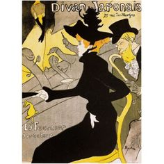 Trademark Fine Art Divan Japonais Canvas Art by Henri de Toulouse-Lautrec, Size: 35 x 47, Multicolor