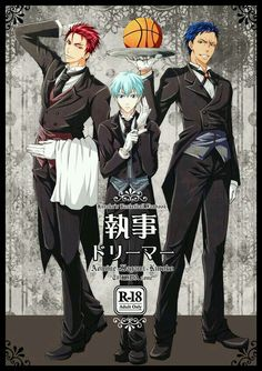 Kuroko No Basket and Kuroshitsuji crossover (*screams quietly* best. Crossover. Ever.)