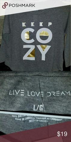 """NWT LIVE LOVE DREAM """"Keep Cozy"""" Top Brand New LIVE LOVE DREAM Soft """"Keep Cozy"""" 3/4 Sleeve Top for Sleeping or Playing.  😉  BUNDLE TO SAVE!!!! LIVE LOVE DREAM Tops Tees - Long Sleeve"""