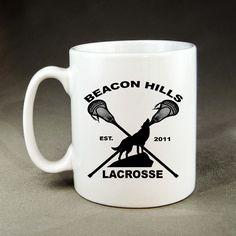 Beacon Hills Lacrosse Mug - 11oz White Ceramic Coffee Mugs #Handmade