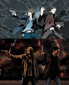 Supernatural : Switch Screens by aragornestel.deviantart.com. Some people are just too talented.