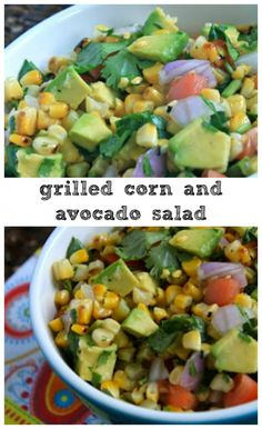 A light and fresh salad with grilled corn and avocado...a great side dish for grilling!
