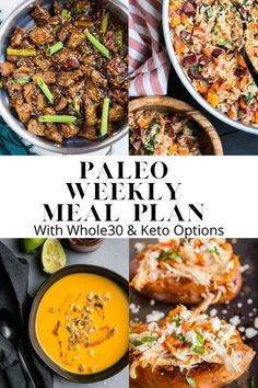 The post Paleo Meal Plan #6 appeared first on Perry's Plate. Whole Foods Meal Plan, Paleo Meal Plan, Meal Prep, Good Healthy Recipes, Whole Food Recipes, Paleo Recipes, Paleo Meals, Delicious Recipes, Soup Recipes