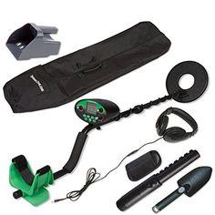 nice Treasure Cove TC-9800 Fast Action Digital Pro Metal Detector Set With Bonus Handheld Pinpointer