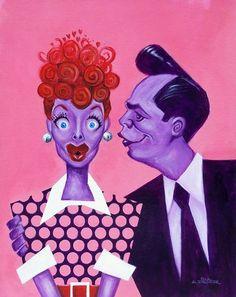 """I Love Lucy"" (by Paul Alexander) Lucille Ball & Desi Arnaz"