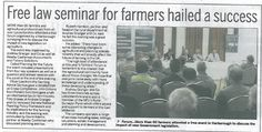 Farmers forum hailed a success - Harborough Mail - May 2012