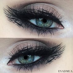 creative eyeliner strokes neutral eye makeup @evadmua
