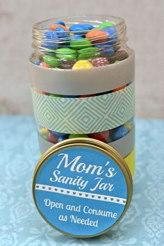 #DIY Mother's Day Treat Jar - Simple - Easy - Great for Kids to Make - Also good for #TeacherGifts #MothersDay