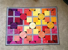 """Quilter's Quest 2015 """"Galaxies On Fire"""" Bear's Paw Fabric's Quilt. 11/9/2015."""