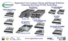 A full range of NVMe server and storage solutions, contact Supermicro today for details!