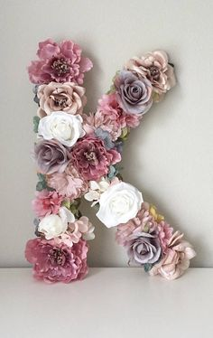 Boho Flower Letter, Boho Chic Nursery Art, Flower Number, Flower Initial, Floral Initial - New Deko Sites Flower Letters, Nursery Art, Chic Nursery, Baby Girl Nursery Decor, Room Baby, Nursery Wall Decor, Decor Room, Baby Decor, Nursery Ideas