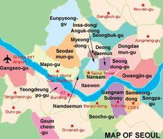 map of neighborhoods of Seoul