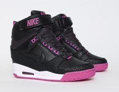 #Nike Air Revolution Sky Hi Black/Pink