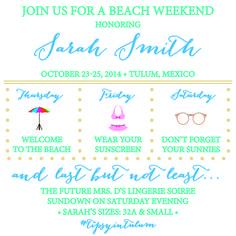 Beach Bachelorette Invite