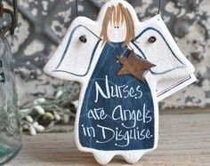Nurse Gift Thank You Handcrafted Salt Dough Gift Ornaments & by cookiedoughcreations