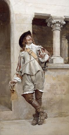 """""""Courtyard of the Artist's Studio"""" - Ernest Meissonier (French, 1815–1891), oil on canvas, 1877 {academic art painter and sculptor standing male painting #nineteenthcentury #arthistory}"""