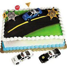 Police car road cake