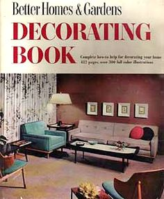 Better Homes & Gardens Decorating Book cover 1956