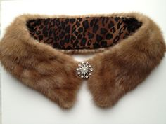 upcycled mink collar by bean & the sprout