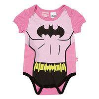 Baby Girls Batman Romper