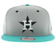 Houston Astros Gray, Teal, White, Black SNAPBACK New Era Cap