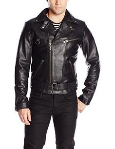 "Biker jacket crafted from black leather that will age just as beautifully as denim. It features all the classic hallmarks from the off-center zip fastening to the wide notch lapels and the three zip front-pockets.   	 		 			 				 					Famous Words of Inspiration...""Be a good listener. Your...  More details at https://jackets-lovers.bestselleroutlets.com/mens-jackets-coats/leather-faux-leather/product-review-for-nudie-jeans-mens-ziggy-punk-leather-jacket/"