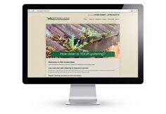 Screenshot of WA Gutterclean, website designed by Media Identity