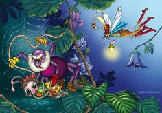 The savior flies to the aid. Savior, Fairy Tales, Wonderland, Fun, Painting, Fictional Characters, Insects, Nature, Salvador