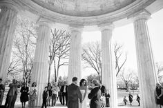wedding ceremony at the dc war memorial