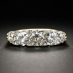 Victorian 18k Five-Stone Diamond Ring - 10-1-6291 - Lang Antiques