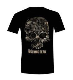 The Walking Dead - Walkers Skull Herren T-Shirt - Schwarz - Größe Small