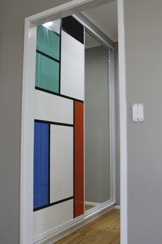 Mondrian Inspired Sliding Wardrobe Doors